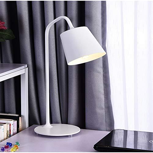 Lampada da tavolo con protezione per gli occhi scrivania semplice lettura moderna lampada da comodino camera da letto bianco elegante