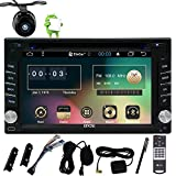 6,2-Zoll-Universal-Quad-Core-2-Din Android 6.0 Eibisch Auto GPS-Stereoradio HD kapazitiver Touch Screen GPS-Navigations-DVD-CD-Player WiFi-Bluetooth Spiegel Verbindung mit Backup-Kamera