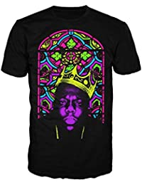 Notorious Big Biggie corona Stained Glass para hombre T