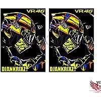 VITCIK Adhesivos para Cascos de Moto, calcomanías para Motos Honda Suzuki Yamaha Kawasaki Ducati BMW