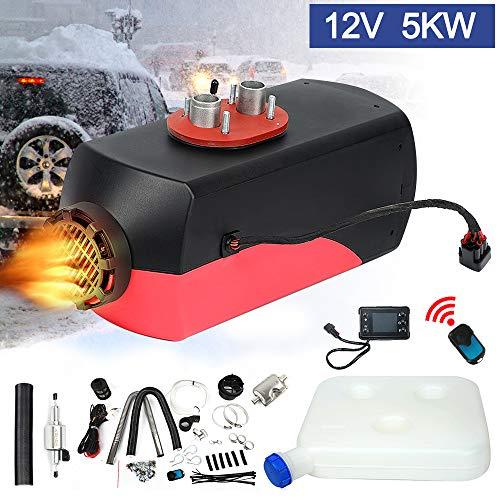 Triclicks 12V 5KW Diesel Luftheizung Air Standheizung Kraftstoff Auto Heizung Lufterhitzer mit Fernbedienung LCD Monitor für RV, Boote, LKW, Wohnmobil Anhänger, Wohnmobile