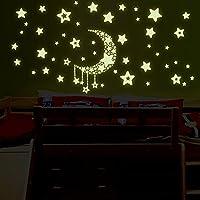 Glow in The Dark Stars Wall Stickers, Wall Decorations Stickers for Bedrooms Glow in The Dark Paint Wall Murals