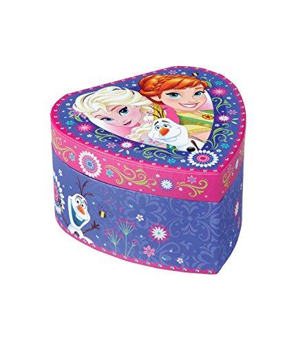 Disney-La-reina-Elsa-Anna-nia-Joyero-Corazn–Color-Lila