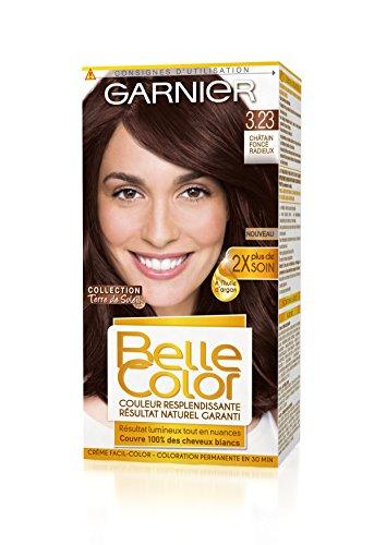 Garnier - Belle Color - Terre de Soleil - Coloration permanente Châtain - 3.23 Chatain foncé radieux Lot de 2