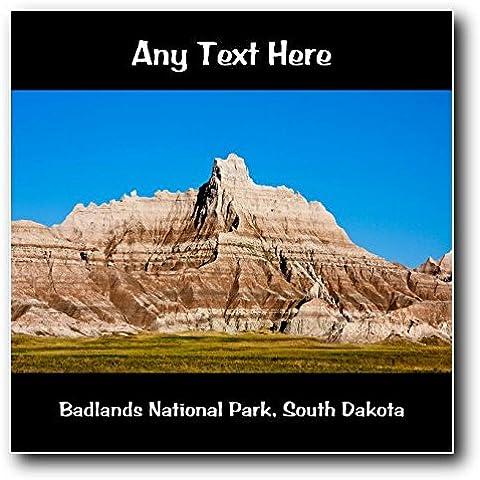 Parque Nacional Badlands, Dakota del Sur personaliseitonline cuadrada decorativa