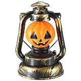 Tutoy Halloween Pumpkin Skull Witch Lanterne Lampe Avec Light Rire -1