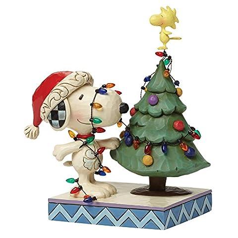"""Peanuts von Jim Shore """"Snoopy mit Weihnachtsbaum"""" Figur"""