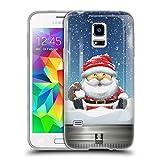 Head Case Designs Santa Weihnachten Im Einweckglas Soft Gel Hülle für Samsung Galaxy S5 Mini