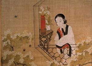 International Publishing 0801N24019b-Lady Mirroring Peach Blossoms, clásica Puzzle