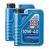 2x LIQUI MOLY 1300 Super Leichtlauf 10W-40 Motoröl ACEA A3 B4