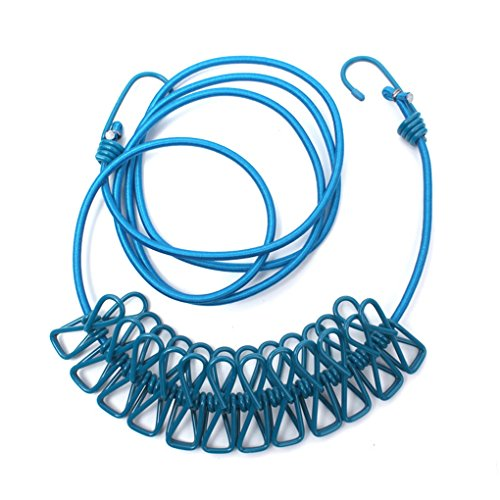 lufa-elastic-camp-bushcraft-tent-laundry-washing-clothes-line-rope-with-12-pegs-clips-blue