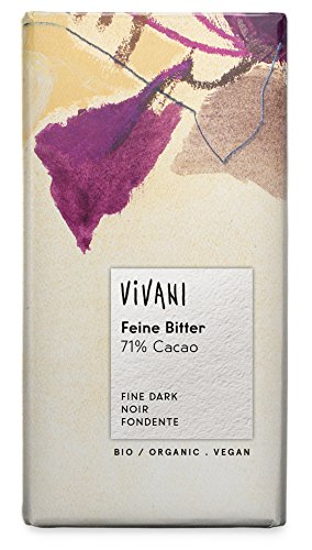 Vivani Feine Bitter 71% Schokolade  100g, 5er Pack (5 x 100 g) - Bio