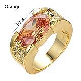 Damen Ring Gold Zirkonia Diamant Ring Schmuck Diamantring Hochzeit Verlobung Valentinstag Souvenir Geschenk