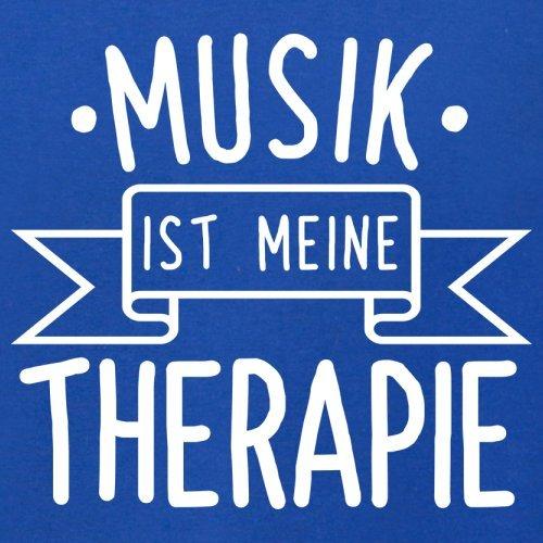 Musik ist meine Therapie - Herren T-Shirt - 13 Farben Royalblau