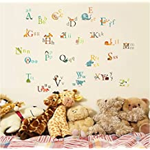 UberLyfe Animals Alphabet Wall Sticker Size 4 (Wall Covering Area: 95cm x 135cm) - WS-103