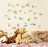 UberLyfe Animals Alphabet Wall Sticker S...