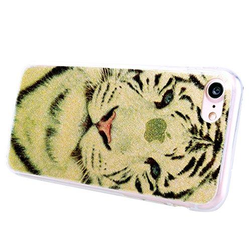 ff66dcc7300b0a WE LOVE CASE iPhone 7 Plus Hülle Glitzern Transparent Gelb iPhone 7 Plus  5,5