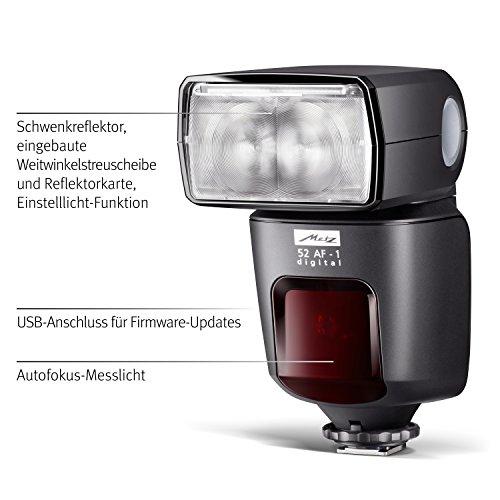 Metz mecablitz 52 AF-1 für Pentax Kameras (DSLR und CSC) | Top Blitzgerät mit P-TTL, Leitzahl 52, HSS (High Speed Sync), Touch-Display etc. - 3
