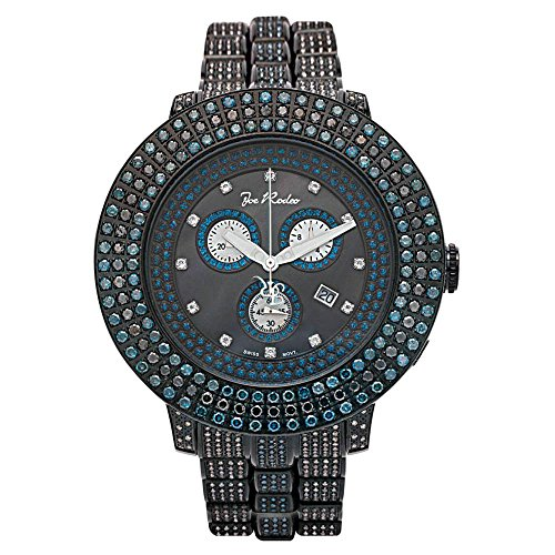Joe Rodeo Diamant Homme Montre - PILOT noir 17 ctw