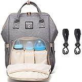 Baby Wickelrucksack Wickeltasche Multifunktional Oxford Große Kapazität Babytasche Kein Formaldehyd Reiserucksack für Unterwegs,Mama Wickeltasche Rucksack Reisetasche (Grau 1)