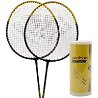 Carlton Unisex 2 Player Badminton Set Rackets & Shuttlecocks Sports Accessories