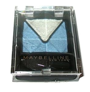 Maybelline Eyestudio Duo Eyeshadow ~ 410 Azur Silver ~ Mid Blue Silver Shimmer