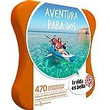LA VIDA ES BELLA - Caja Regalo - AVENTURA PARA DOS - 470 experiencias de aventura como parapente, surf, kayak y más en España y Andorra