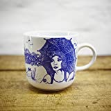 Kaffeebecher - 100% Handmade von Ahoi Marie - Motiv Lona - Maritime Porzellan-Tasse original aus dem Norden