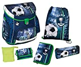 Scooli FCPR8252AZ Campus UP Schulranzen Set Football, 6 teilig
