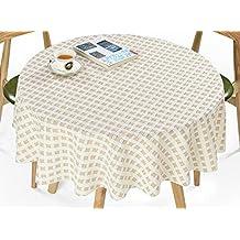 pastoral mantel de plstico de pvc resistente al agua florales manteles cubierta de mesa redonda decoracin