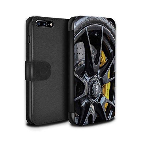 Stuff4 Coque/Etui/Housse Cuir PU Case/Cover pour Apple iPhone 5/5S / Noir/Orange Design / Jantes Alliage Collection Noir/Jaune