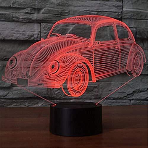 HYDYI 3D Nachtlicht 7 Farben Visuelle Käfer Car Modeling Lampe 3D LED Nachtlicht Kinder Geschenke Touch-Schalter USB Tisch Lampara Lampe Baby Schlaf Beleuchtung - Tisch Lampe Schalter