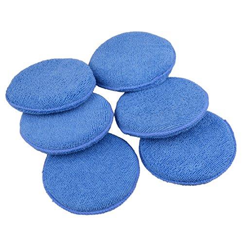 beler 6 Stück Mikrofaser-Schaumstoff Schwamm Autopolitur Wachs-Applikator Reinigungs-Pads