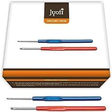 Jyoti Crochet Hook - Steel - # 15509 - Plastic Handle - 6/15cm - Size 6'' (10 Pieces)