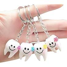 TOOGOO 20 piezas llavero llavero colgante diente forma lindo regalo dental