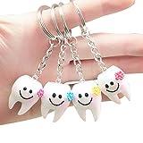 SODIAL 20 piezas llavero llavero colgante diente forma lindo regalo dental