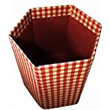Collapsible Hexagonal Woven Cotton Fabric Waste Paper Bin