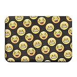 Emoji-Laugh Smile Personalisierte Fußmatten