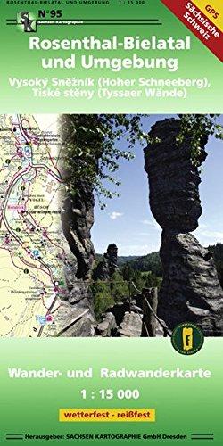Rosenthal-Bielatal und Umgebung: Wander- und Radwanderkarte 1: 15 000 GPS-fähig wetterfest-reißfest