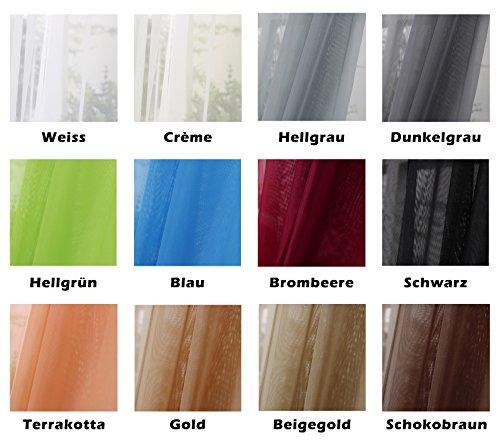 Woltu 307 Gardine Vorhang Transparent Mit 50mm Kräuselband Stores