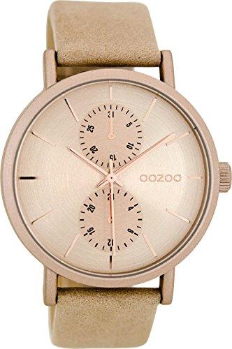 Oozoo Damenuhr mit Lederband 42 MM Sand/Sand C8687
