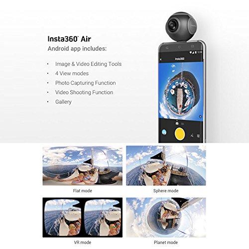 Insta360 Air Compact Mini Panorama 360 Grad 3K HD Kamera Dual Weitwinkel-Fischaugen-Objektiv VR Modus für OPPO R9 / Huawei P9 Mate9 / LG V20 Andriod Smartphone - 7