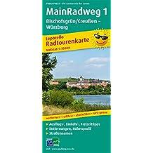 Main-Radweg 1, Bischofsgrün/Creußen - Würzburg: Leporello Radtourenkarte mit Ausflugszielen, Einkehr- & Freizeittipps, wetterfest, reissfest, ... 1:50000 (Leporello Radtourenkarte / LEP-RK)