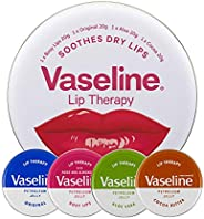 Vaseline Lip Therapy Soothes Dry Lips Pack 4pk, (20g x 4)