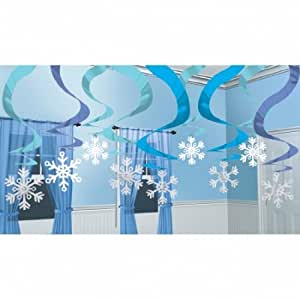 Pack de 15 d corations a suspendre flocon de neige for Decoration de noel amazon