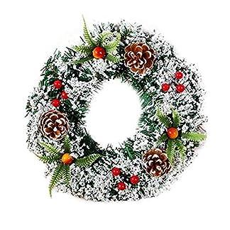 DEBEME-20-cm-Weihnachten-Kranz-GirlandeVorbeleuchtet-Kranz-Knstlich-Bereift-Stechpalme-Weihnachtskranz-Kerzenring-mit-Schnee-Wohnkultur-Urlaubszubehr-Fr-Weihnachtsfeier1-pc