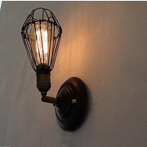 LIVY Eoliche industriali retrò americano corridoio Cafe villaggio camera da letto comodino piccolo telaio metallico elegante applique