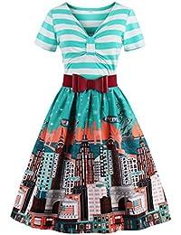 Babyonline® Elegant Damen Vintage 1950er Jahre Kleider Partykleider