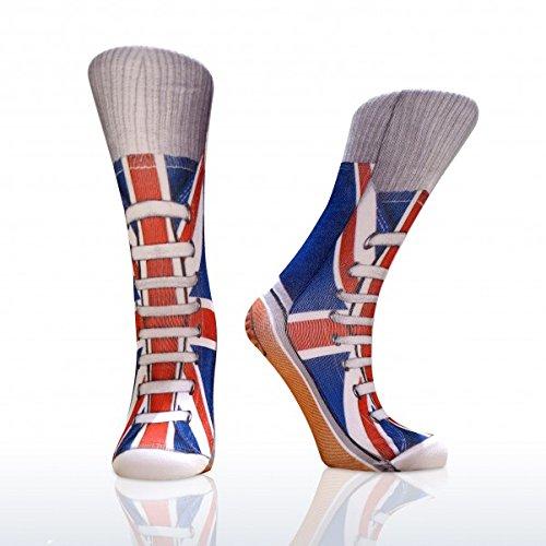 Sneaker Socken Union Jack - Turnschuhe im fotorealistischen Design