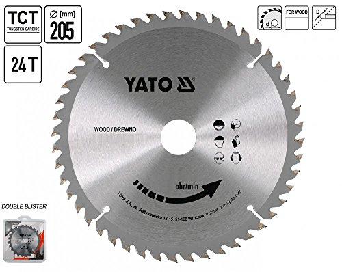 Yato YT-6066 Kreiss�geblatt S�geblatt HM Best�ckt 205 x 18 mm 24 Z�hne